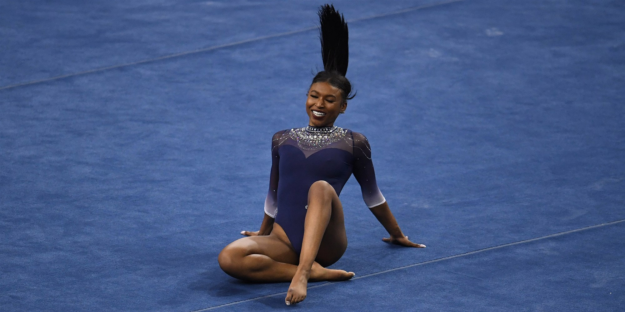 A gymnast at the University of California