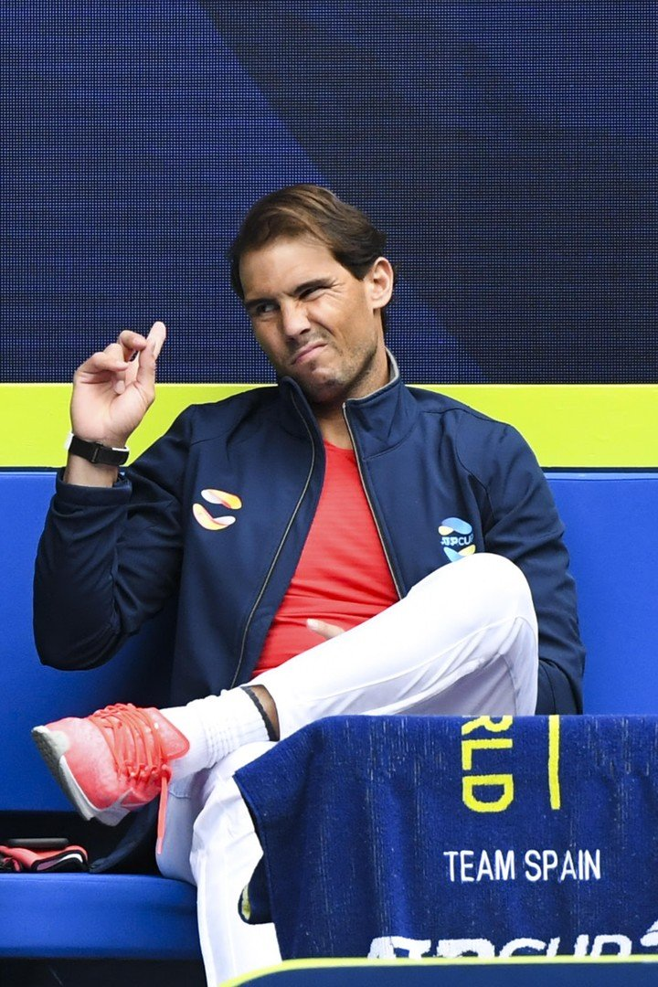 Nadal, who suffers from back pain, missed Spain's first ATP Cup appearance Photo: EFE