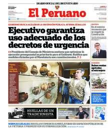 Printed edition of El Peruano Gazette