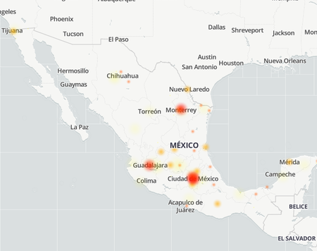 Internet failure mexico