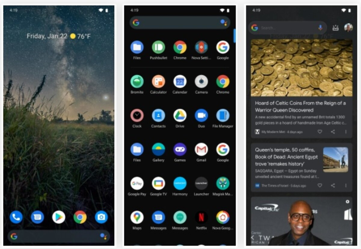 Nova Launcher already has Pixel interface configured and finalized.