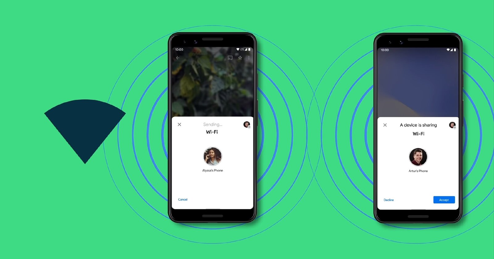 Compartir Wi-Fi on Android 12 con nearby Share