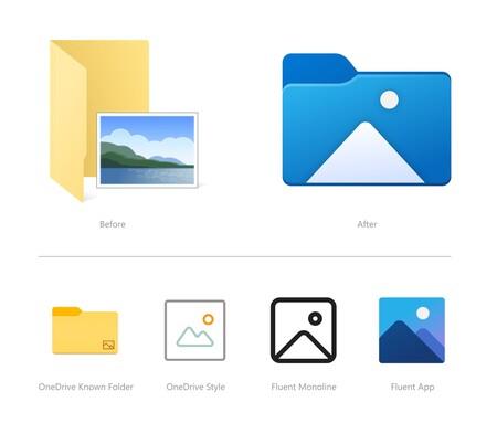 Microsoft Update Windows 10 New Icons File Explorer Folder