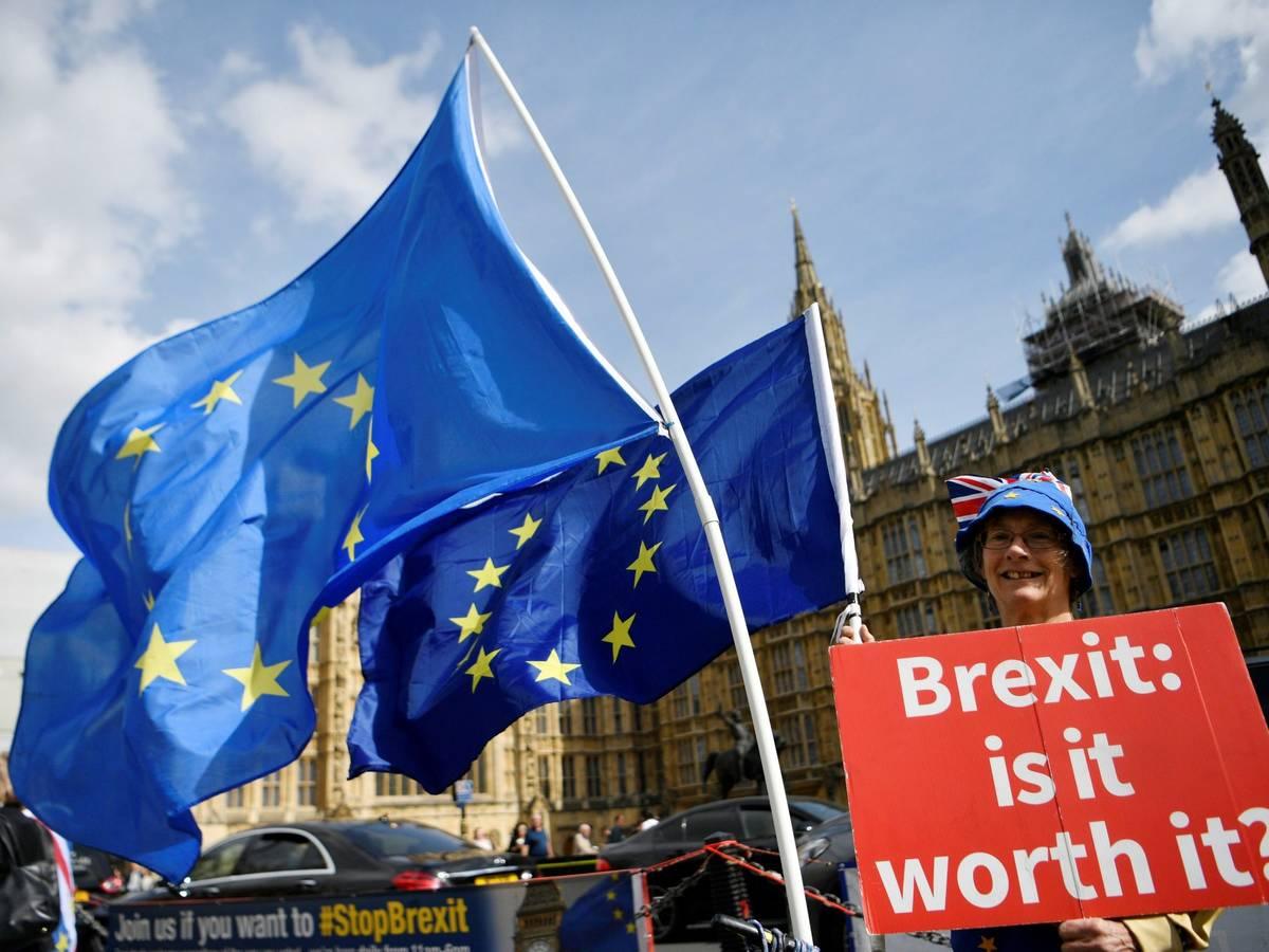 Photo: Anti-Brexit protest in the United Kingdom.  (EFE)