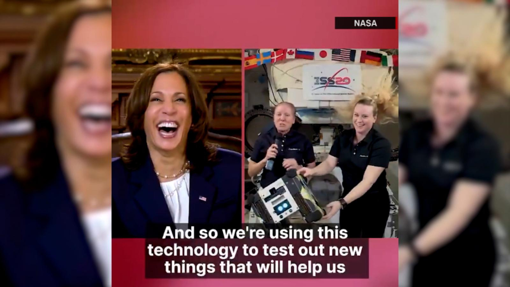 Kamala Harris is making an out-of-this-world video call