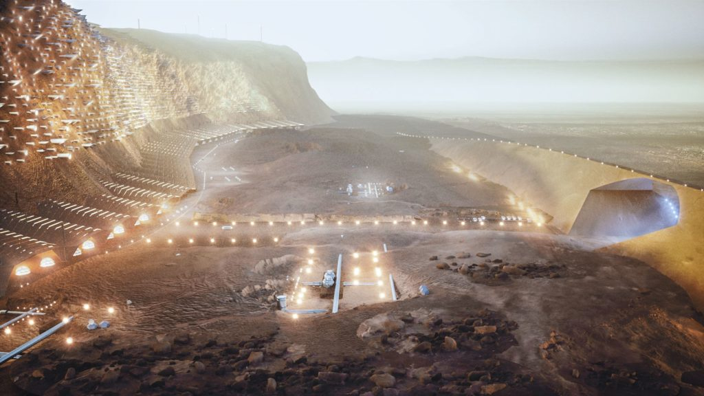 The city of Noa on Mars