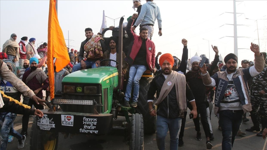 Protesting farmers in India canceled the February 1 march to Parliament