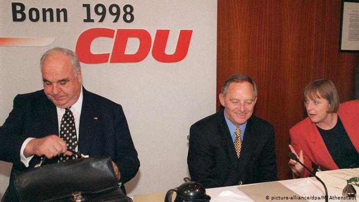 Helmut Kohl, Wolfgang Schauble and Angela Merkel.