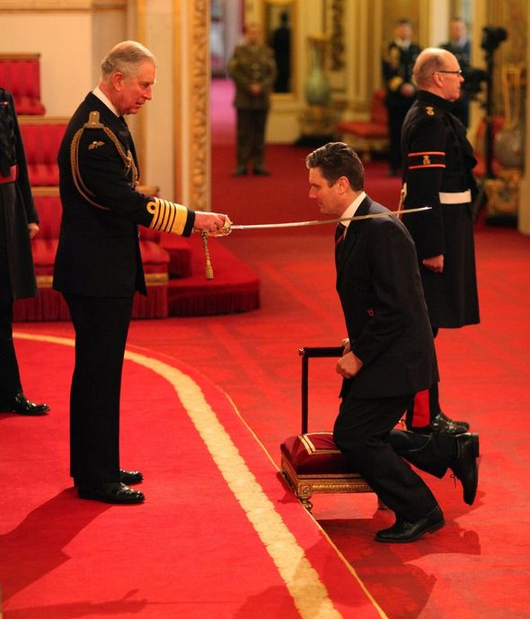 Knight: Starmer was awarded the Equestrian title in 2014