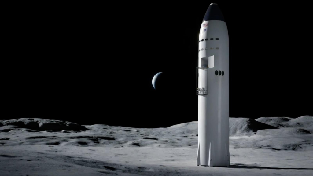 SpaceX wins contract with NASA to take humans to the moon