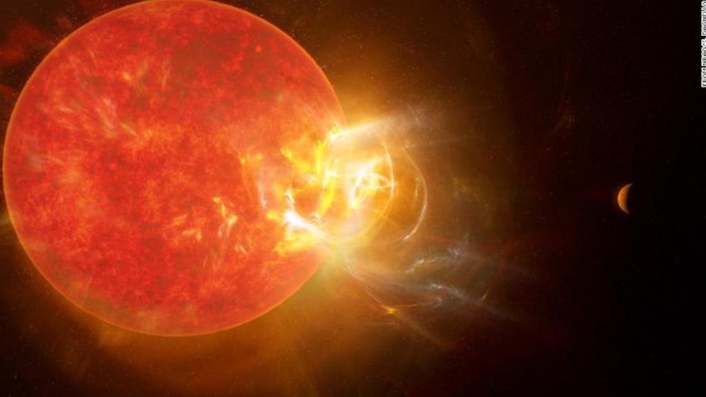 The star Proxima Centauri emits a giant flame