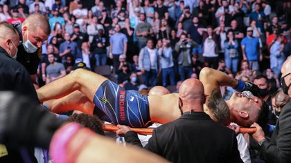 Weidman left the appraiser on a stretcher, to applause from the crowd (AFP)