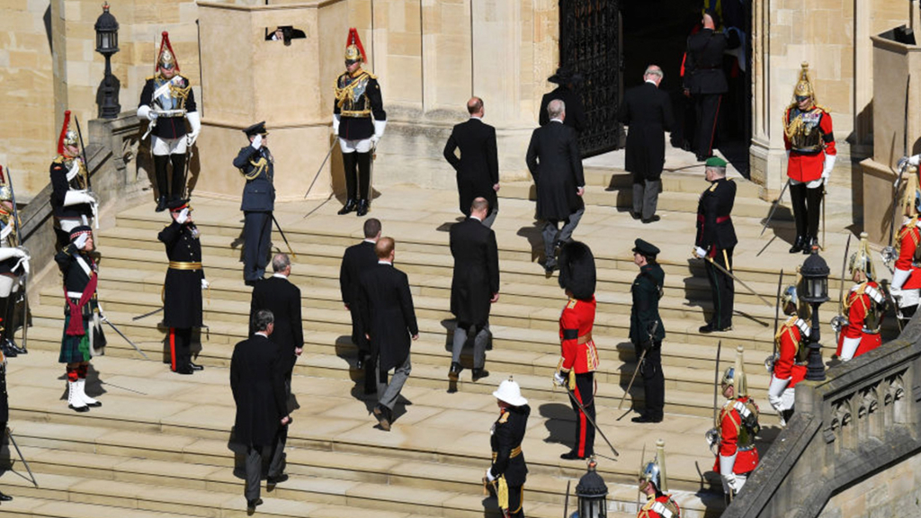Watch the moment Prince Philip's coffin enters Saint George's Chapel