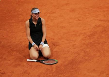 Paula Padosa, after defeating Anastasia Sevastova in the Mutua Madrid Open.