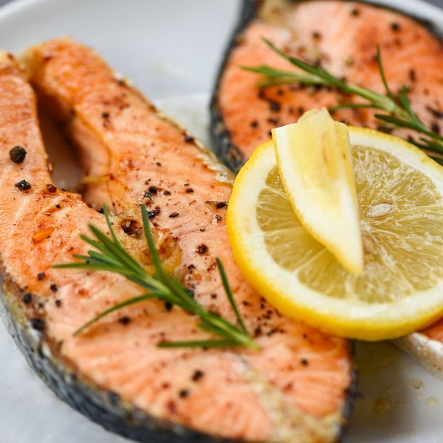 Salmon for lunch.  Mackerel or sardines are also popular