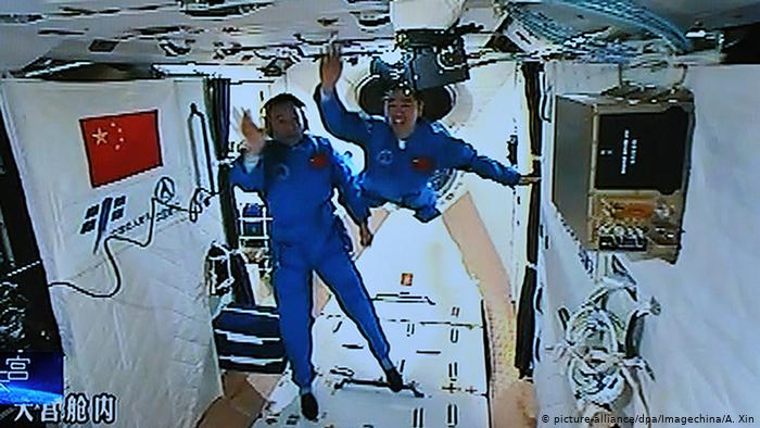 Chinese astronauts aboard the Shenzhou XI spacecraft
