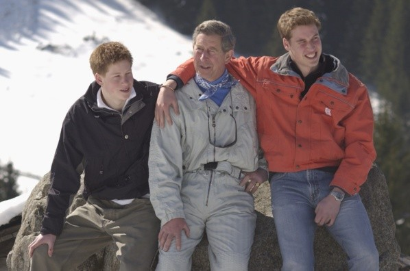 Princes William and Harry with their father, Prince Charles.  Photo: (Getty Images)