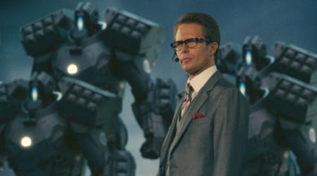 El Industrial Justin Hammer (Sam Rockwell) en 'Iron Man 2'