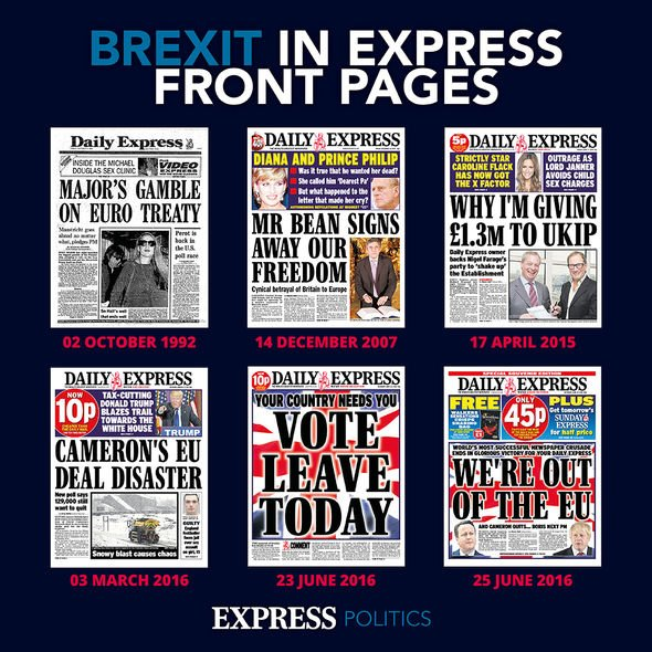 Brexit on the Express covers