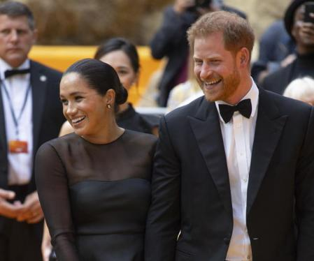 Prince Harry and Meghan Markle at the movie premiere