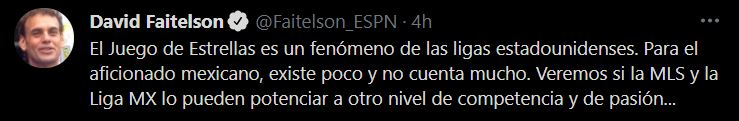 David Fittelson's opinion of the All-Star Game (Image: Twitter / Faitelson_ESPN)