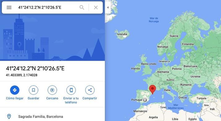 Find coordinates in Google Maps