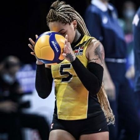 Brenda Castillo, volleyball player from the Dominican Republic