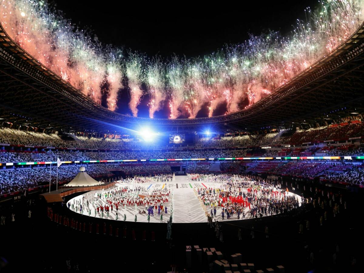 Photo: The official opening of the Tokyo Olympics.  (EFE)