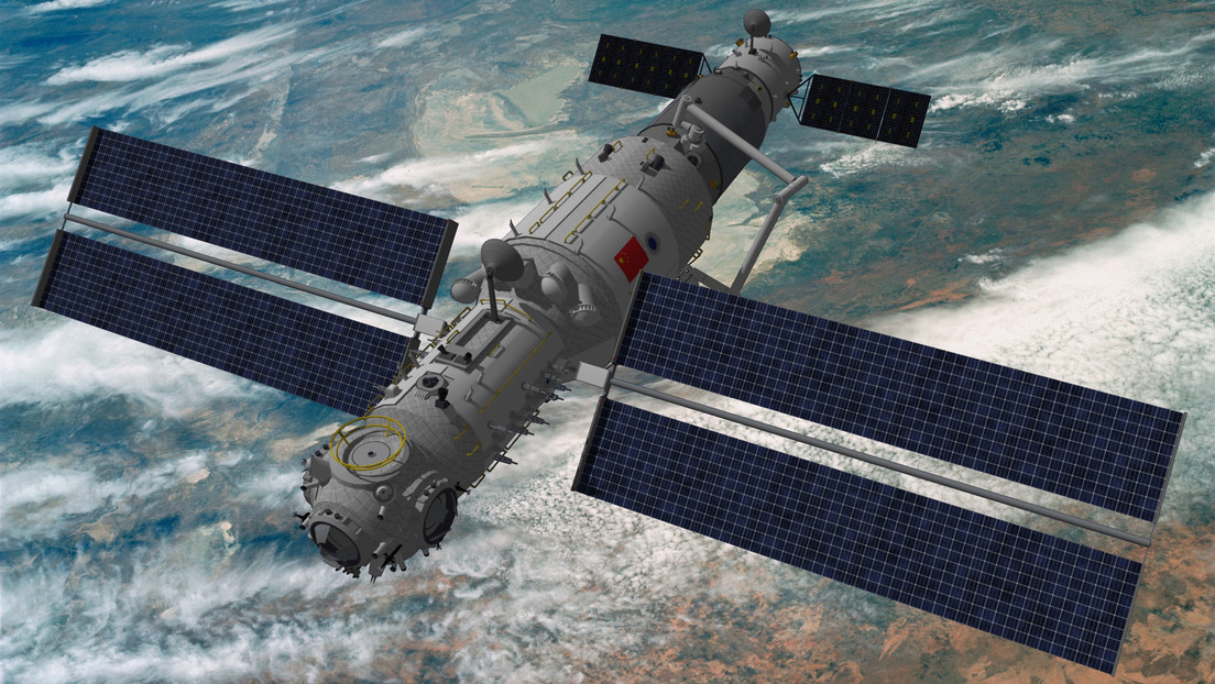 Which Chinese space station Tiangong received its first crew this week, and why?