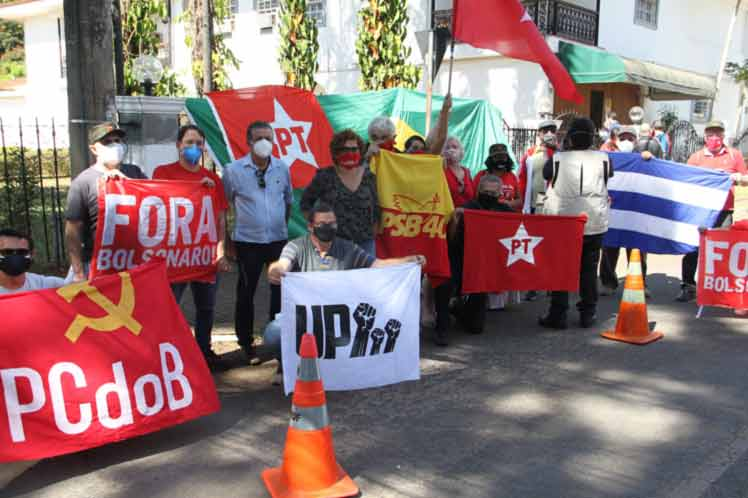 Strong response to the provocation at the Cuban Embassy in Brazil