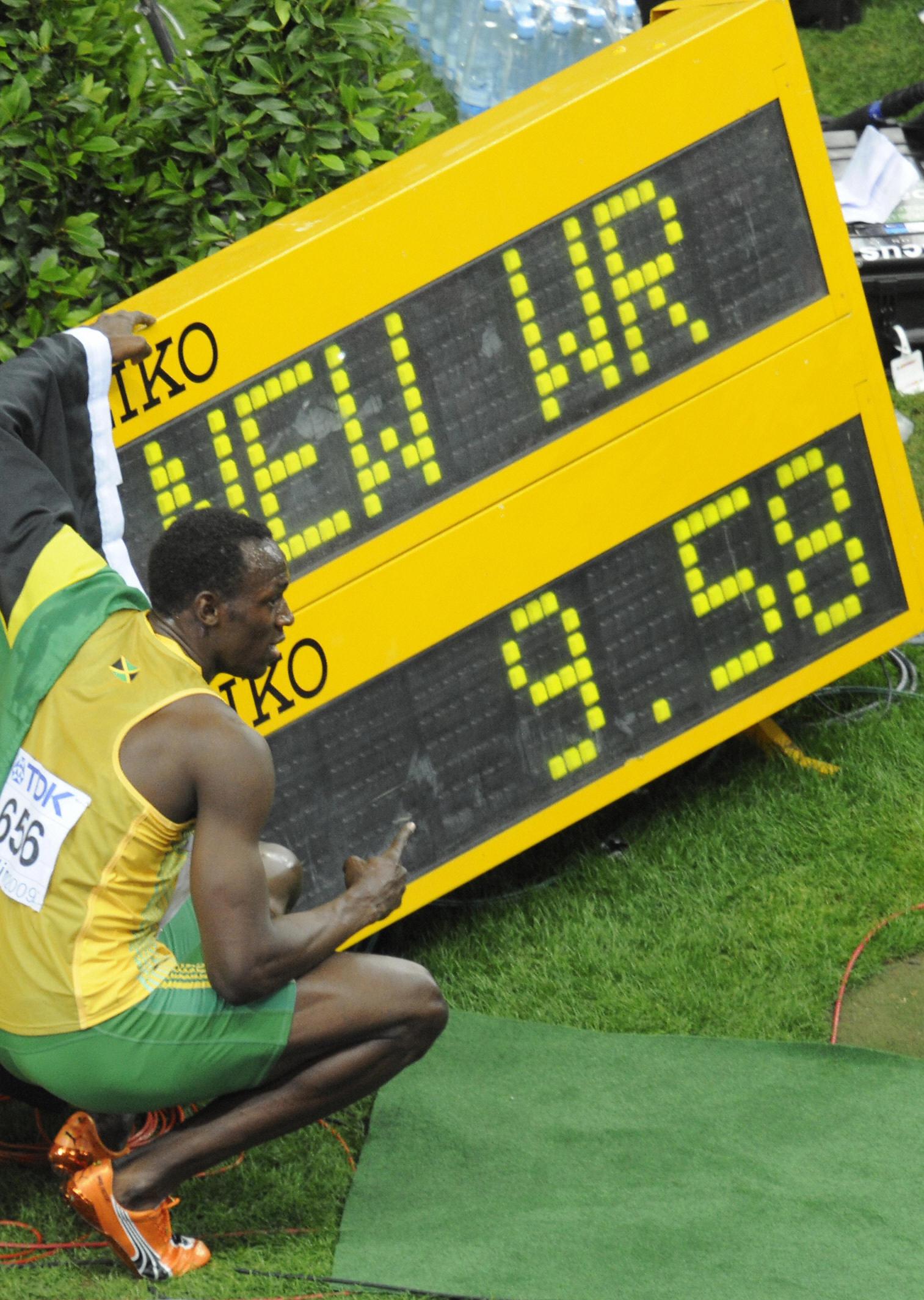 Bolt has a score of 9.58.