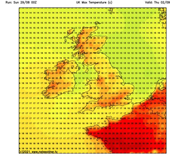 UK hot weather forecast: Hot air could sweep across the UK
