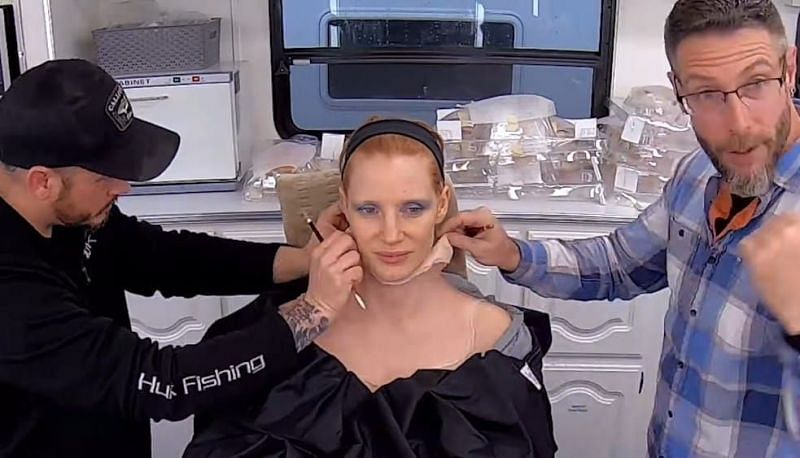 Jessica Chastain is unrecognizable through reconstructive surgery (photo courtesy of Spotlight)