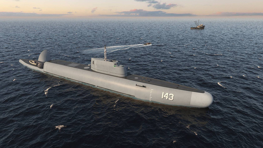 Russia presents a project for a coast guard ship that can dive