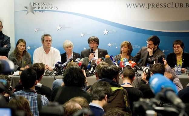 Puigdemont press conference in Brussels on October 31, 2017.