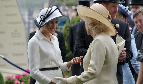 Camilla and Meghan Markle at Royal Ascot